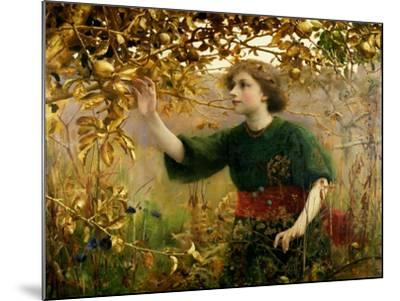 A Golden Dream, 1893-Thomas Cooper Gotch-Mounted Giclee Print