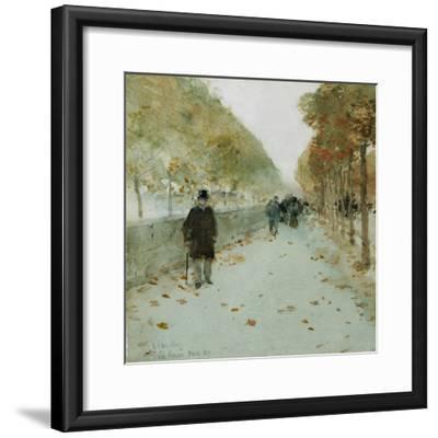Quai Du Louvre, 1889-Childe Hassam-Framed Giclee Print