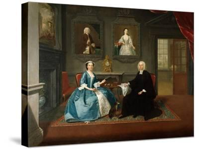 Reverend Streynsham Master and His Wife, Margaret of Croston, Lancashire, 1743-44-Arthur Devis-Stretched Canvas Print