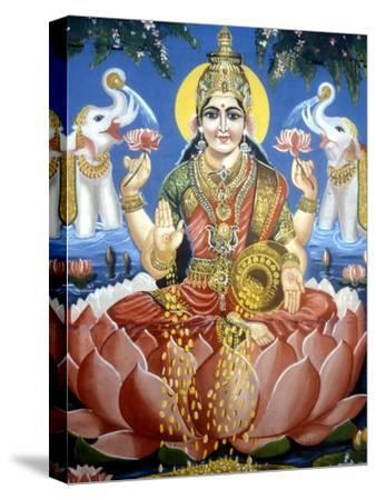 The Goddess Lakshmi--Stretched Canvas Print