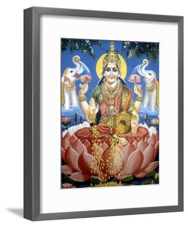 The Goddess Lakshmi--Framed Premium Giclee Print
