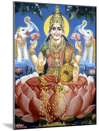 The Goddess Lakshmi--Mounted Premium Giclee Print