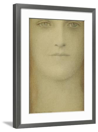 Study of a Woman, 1890-Fernand Khnopff-Framed Giclee Print