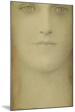 Study of a Woman, 1890-Fernand Khnopff-Mounted Giclee Print