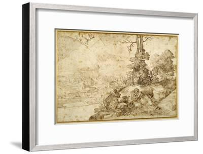 Landscape with Astrology-Domenico Campagnola-Framed Giclee Print