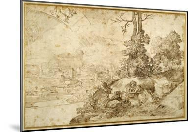 Landscape with Astrology-Domenico Campagnola-Mounted Giclee Print