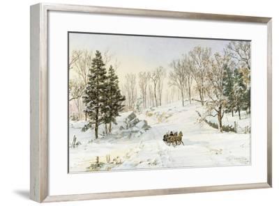 Winter on Ravensdale Road, Hastings-On-Hudson, 1890-Jasper Francis Cropsey-Framed Giclee Print
