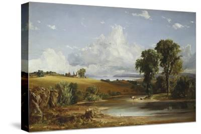 Summer Afternoon on the Hudson, 1852-Jasper Francis Cropsey-Stretched Canvas Print