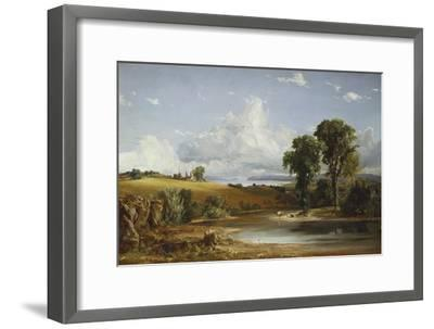 Summer Afternoon on the Hudson, 1852-Jasper Francis Cropsey-Framed Giclee Print
