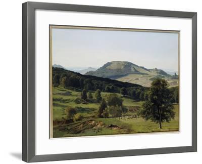 Landscape - Hill and Dale-Albert Bierstadt-Framed Giclee Print