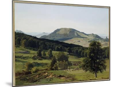 Landscape - Hill and Dale-Albert Bierstadt-Mounted Giclee Print