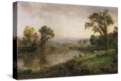 Riverscape - Early Autumn, 1888-Jasper Francis Cropsey-Stretched Canvas Print