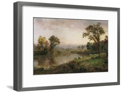 Riverscape - Early Autumn, 1888-Jasper Francis Cropsey-Framed Giclee Print