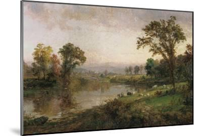 Riverscape - Early Autumn, 1888-Jasper Francis Cropsey-Mounted Giclee Print
