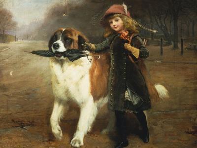 Off to School, 1883-Charles Burton Barber-Framed Giclee Print