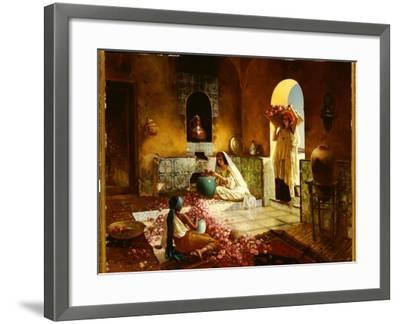The Gathering of the Roses-Rudolphe Ernst-Framed Giclee Print