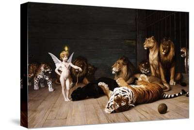 Whoever You Are, Here Is Your Master (Love, the Conqueror)-Jean Leon Gerome-Stretched Canvas Print