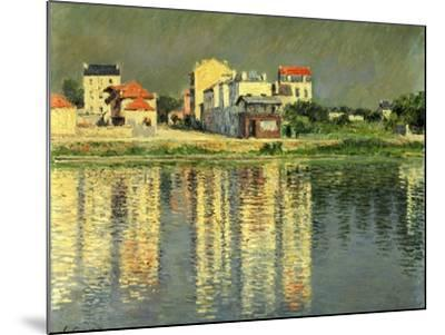 Banks of the Seine at Argenteuil, 1889-Gustave Caillebotte-Mounted Giclee Print