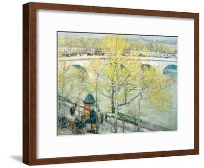 Pont Royal, Paris, 1897-Childe Hassam-Framed Giclee Print