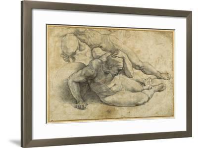 Three Nudes in Attitudes of Terror-Raphael-Framed Giclee Print