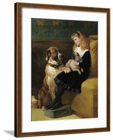 Her Only Playmates, 1870-Heywood Hardy-Framed Giclee Print