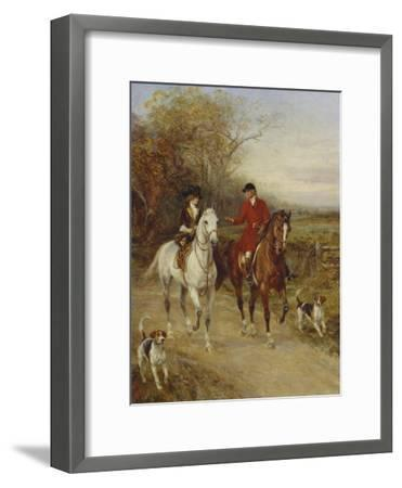Drawing Cover-Heywood Hardy-Framed Giclee Print