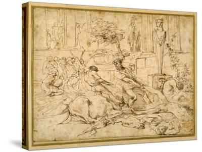 The Plague at Ashdod-Giovanni Benedetto Castiglione-Stretched Canvas Print