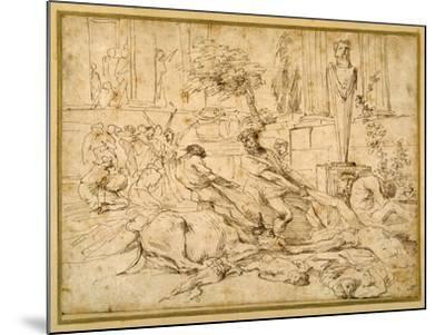 The Plague at Ashdod-Giovanni Benedetto Castiglione-Mounted Giclee Print