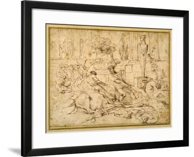 The Plague at Ashdod-Giovanni Benedetto Castiglione-Framed Giclee Print