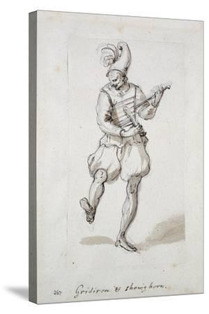 Man with Gridiron and Shoe Horn-Inigo Jones-Stretched Canvas Print