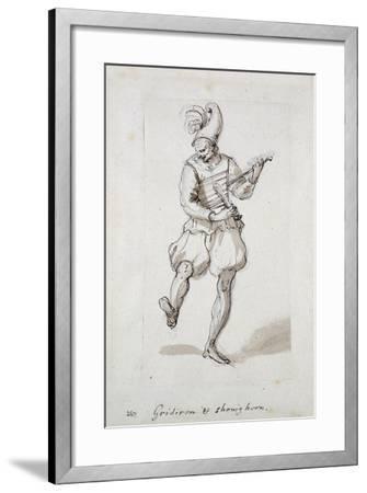 Man with Gridiron and Shoe Horn-Inigo Jones-Framed Giclee Print