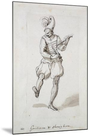 Man with Gridiron and Shoe Horn-Inigo Jones-Mounted Giclee Print