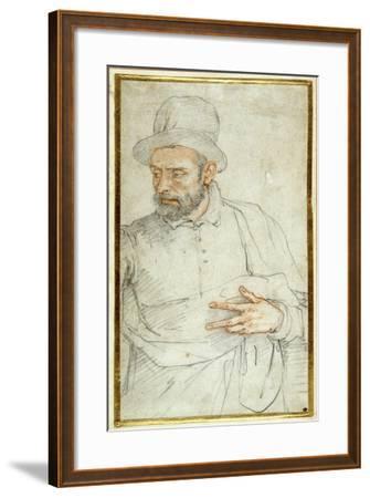 A Bearded Man, Half Length, Standing Dressed for the Street-Federico Zuccaro-Framed Giclee Print