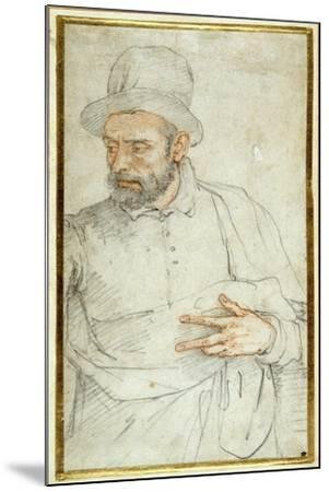 A Bearded Man, Half Length, Standing Dressed for the Street-Federico Zuccaro-Mounted Giclee Print