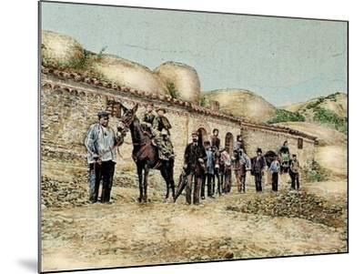 Hikers in San Jeronimo, Montserrat, Catalonia, Spain, from 'The Illustration', 1890-L. Urgelles-Mounted Giclee Print