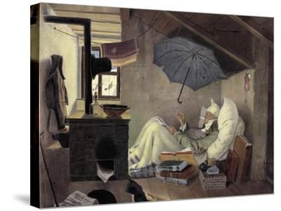 The Poor Poet, 1839-Carl Spitzweg-Stretched Canvas Print