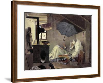 The Poor Poet, 1839-Carl Spitzweg-Framed Giclee Print