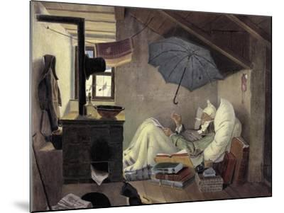 The Poor Poet, 1839-Carl Spitzweg-Mounted Giclee Print
