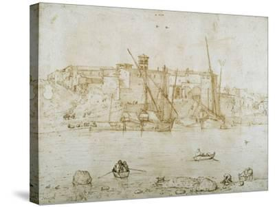View of the Ripa Grande, Rome, C.1552-Pieter Bruegel the Elder-Stretched Canvas Print
