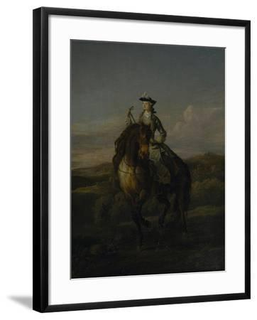 Equestrian Portrait of Charlotte Boyle, Marchioness of Hartington, 1747-William Kent-Framed Giclee Print