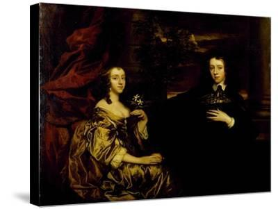 Portrait of a Young Gentleman and His Wife, C.1655-58-Sir Peter Lely-Stretched Canvas Print