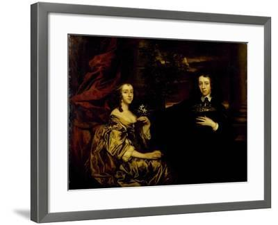 Portrait of a Young Gentleman and His Wife, C.1655-58-Sir Peter Lely-Framed Giclee Print