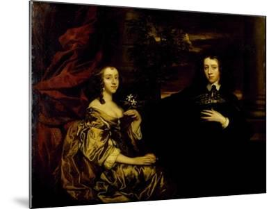 Portrait of a Young Gentleman and His Wife, C.1655-58-Sir Peter Lely-Mounted Giclee Print