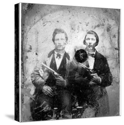 Jesse and Frank James, C.1866-76--Stretched Canvas Print