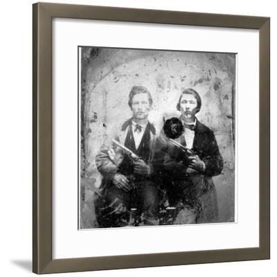 Jesse and Frank James, C.1866-76--Framed Photographic Print