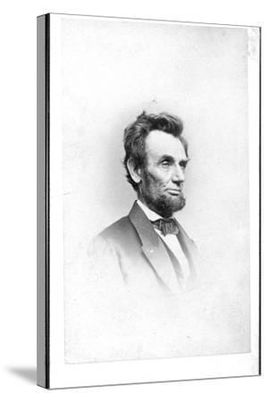 President Lincoln in the Last Week of His Life, 1865-Mathew Brady-Stretched Canvas Print