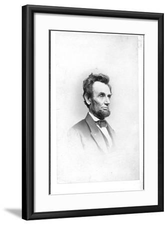 President Lincoln in the Last Week of His Life, 1865-Mathew Brady-Framed Photographic Print