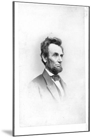 President Lincoln in the Last Week of His Life, 1865-Mathew Brady-Mounted Photographic Print