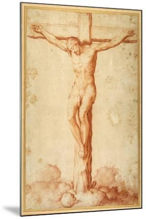 Christ Crucified on Golgotha--Mounted Giclee Print