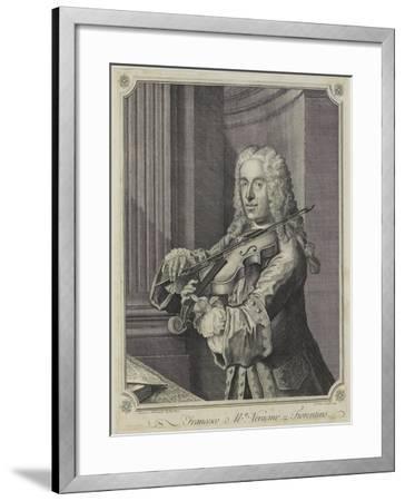 Francesco Ma Veracini, Engraved by J. June (Fl.C.1740-70), 1744-Franz Ferdinand Richter-Framed Giclee Print
